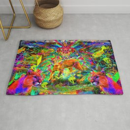 The Laser Focus of Couger Conciousness Rug