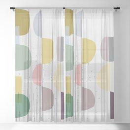 Mid century temporary art VIII Sheer Curtain