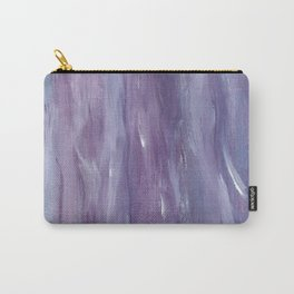 Touching Purple Blue Watercolor Abstract #1 #painting #decor #art #society6 Carry-All Pouch