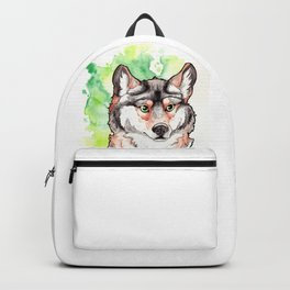 Mexican Gray Wolf Bust Backpack