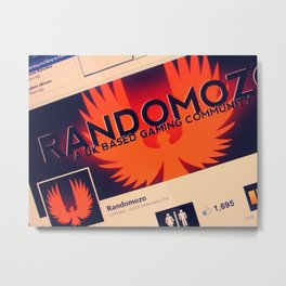 Randomozo Facebook Metal Print