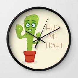 Hug the Cactus Wall Clock