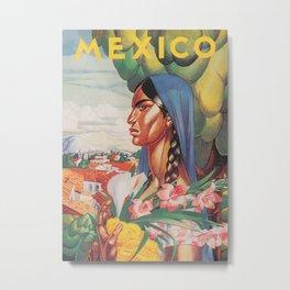 Mexico Vintage Travel Poster Metal Print