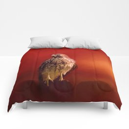 Hawk On A Hot Day Comforters