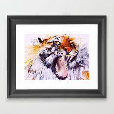 Roaring Explosion Framed Art Print