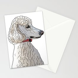 Kyah the White Standard Poodle Stationery Cards