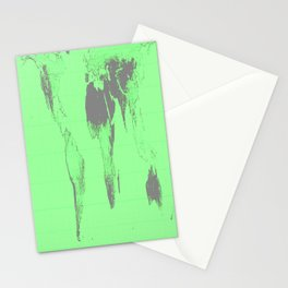 World Map : Gall Peters Seafoam Green Stationery Cards