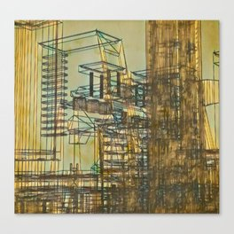 City illustration Canvas Print