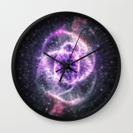 Collapsed Galaxy Eye Wall Clock