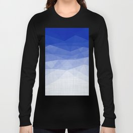 Imperial Lapis Lazuli - Triangles Minimalism Geometry Long Sleeve T-shirt