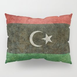 Official flag of the state of Libya, Vintage version to scale  Pillow Sham