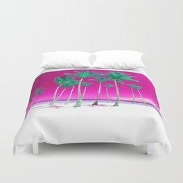 Pink Tropics Duvet Cover