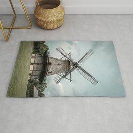 Fabyan Windmill Historic Dutch Holland Style Geneva Illinois Rug