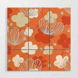 Spring Garden M+M Tangerine by Friztin Wood Wall Art