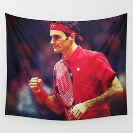 Federer Tennis Swiss Wall Tapestry