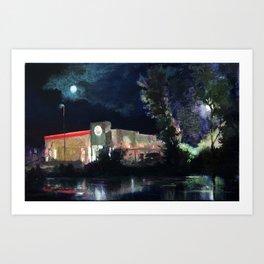 Moonrise over Burger King Art Print