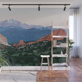 Sunrise at Garden of the Gods and Pikes Peak Wall Mural