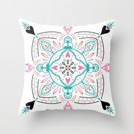 Pretty, modern Mandala Throw Pillow