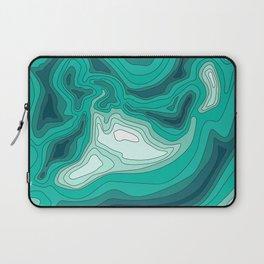 ocean dephts map Laptop Sleeve