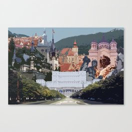Romania Collage Canvas Print