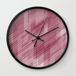 The Red Hash - Geometric Pattern Wall Clock