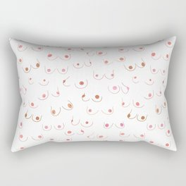 Breasts In Pairs All Colors & Shapes Rectangular Pillow