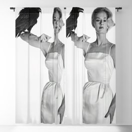 Alfred Hitchcock The Birds Print Tippi Hedren Print The Birds Poster Blackout Curtain