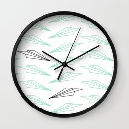 Paper Airplane - You Can Fly - Dense Pattern - Julep Wall Clock