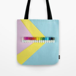 Happy little rainbow pills Tote Bag