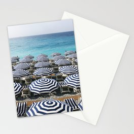Stripes in the French Riviera Stationery Cards