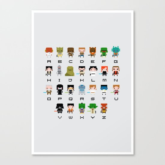 Star Wars Alphabet Canvas Print