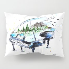 Piano with nature Pillow Sham