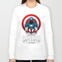 gym Long Sleeve T-shirts featuring Capt's Gym by Corey Courts