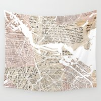 amsterdam Wall Tapestries featuring Amsterdam by Mapsland