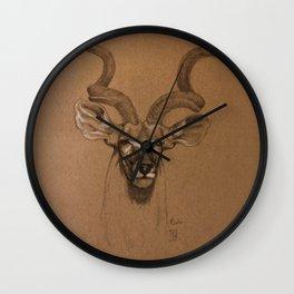 African Kudu Wall Clock