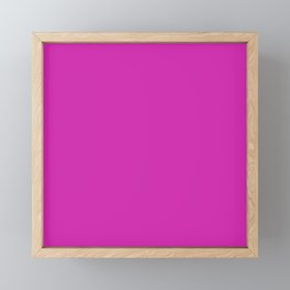 Pink Fuchsia Solid Summer Party Color Framed Mini Art Print