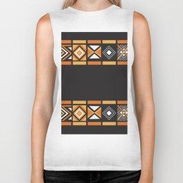 African Tribal Pattern No. 128 Biker Tank