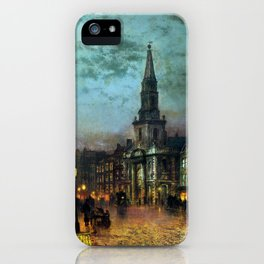 John Atkinson Grimshaw Blackman Street, London iPhone Case