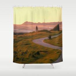 Walk along the coastal path Shower Curtain
