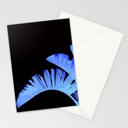 Neon Glow Tropical Palm Fronds Stationery Cards