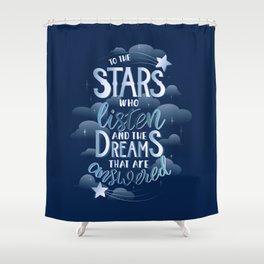 Night Court Book Quote ACOTAR Shower Curtain