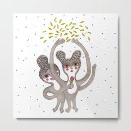 cute creatures feel the love Metal Print