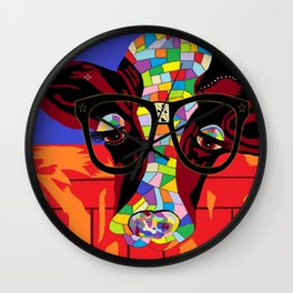 Spectacled Cow Wall Clock