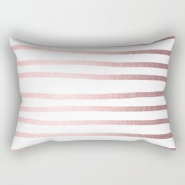 Simply Drawn Stripes Rose Quartz Elegance Rectangular Pillow