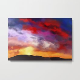 Painting of a colorful sky at sunset Metal Print