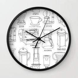 Coffee Brewing Wall Clock