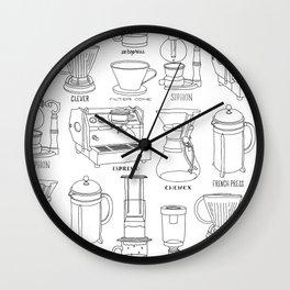 Coffee Brewing Wall Clock