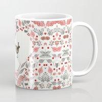 wesley bird Mugs featuring BIRD by Monika Strigel®