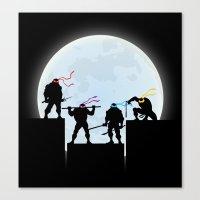teenage mutant ninja turtles Canvas Prints featuring Teenage Mutant Ninja Turtles by offbeatzombie