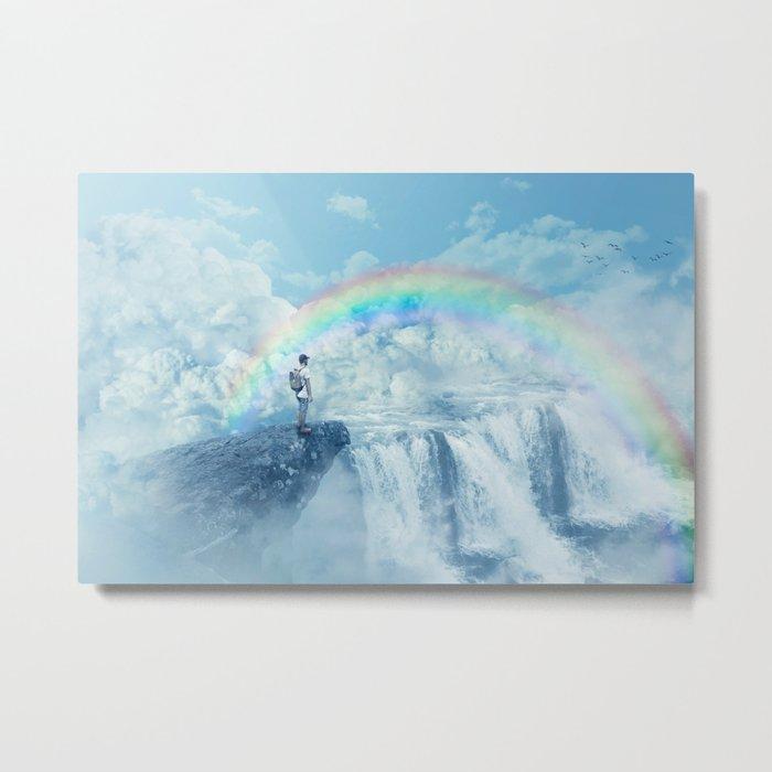 waterfall in the sky Metal Print